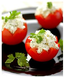 Tomatoes Stuffed with Feta