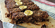 Banana date and oat slice small