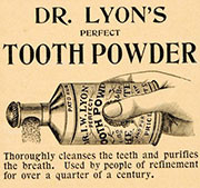vintage tooth powder small