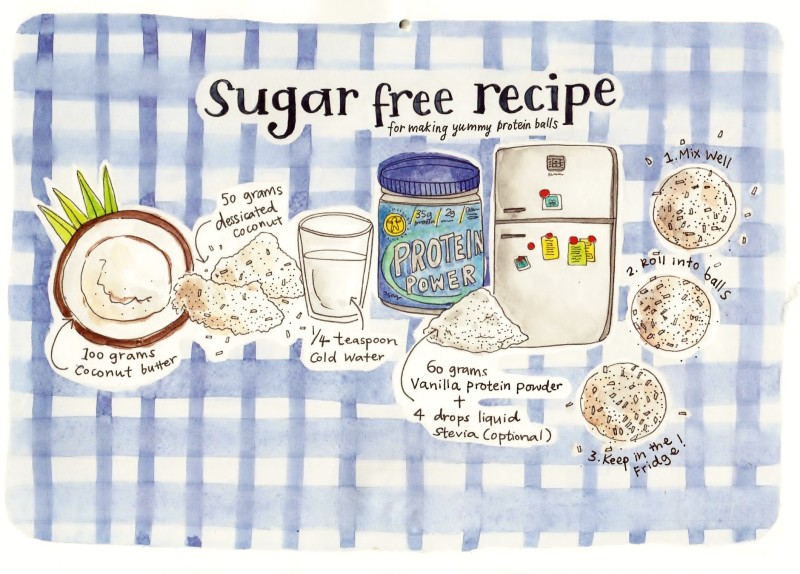 ways to Be sugar free, sugar free protein balls