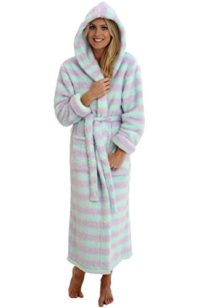 del-rossa-womens-fleece-robe-long-plush-hooded-bathrobe